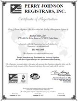 AudioCodes INC - ISO 9001:2008 Certificate